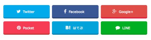 賢威7 SNSボタン
