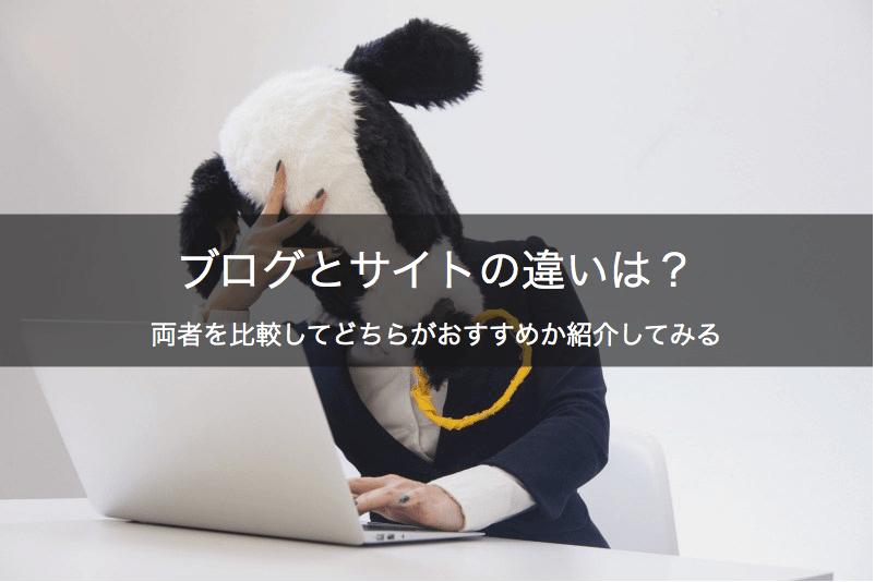 ブログとサイトどっちにすべき
